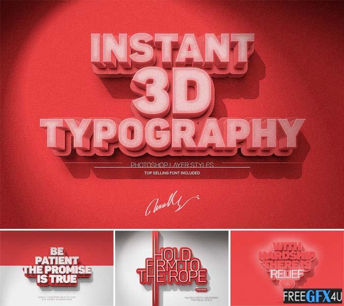 3D Text Effect PSD Early Bird