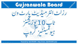 Top 10 Positions Humanities Group 11th Annual Examinations gujranwala