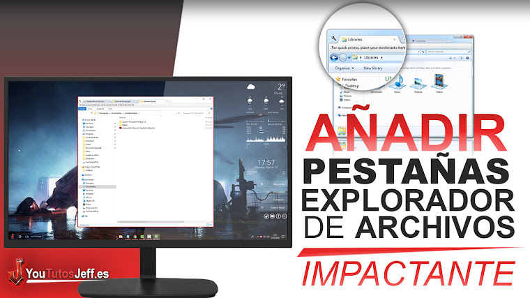 Como Poner Pestañas en Explorador de Windows - Facil y Rapido