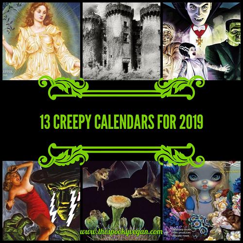 December 2019 Calendar Scary Theme The Spooky Vegan: Creepy Calendars for 2019