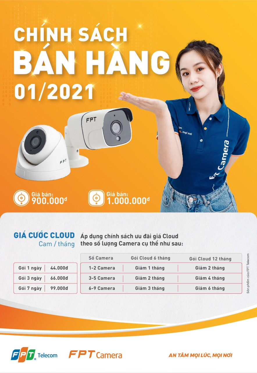 Chi tiết Khuyến mãi đặt mua Camera FPT trong tháng 1/2021