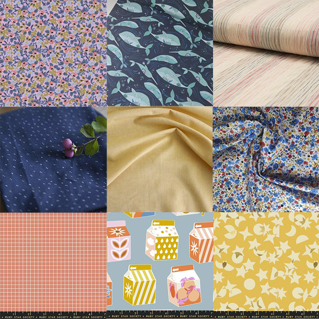 Fabric shopping for the Jaimie pyjamas