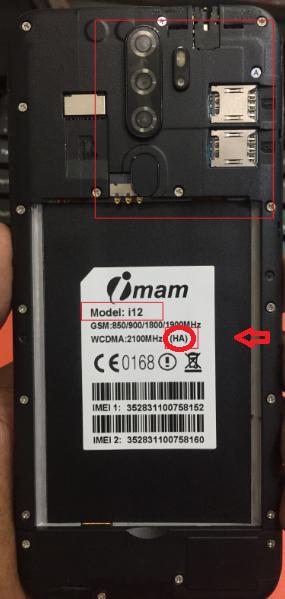 Imam i12 (HA) Flash File MT6580 Cm2 Read Firmware