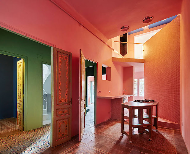 Amazing Coloful Refurbished Home in Barcelona, Spain