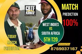 SA vs WI Perfect 5th T20 Match 100% Sure Today Match Prediction Tips