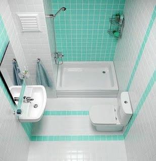 Desain kamar mandi minimalis putih dan hijau dengn bak mandi  10 Kamar mandi minimalis sederhana