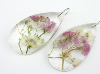 Wedding flowers preserved within jewellery