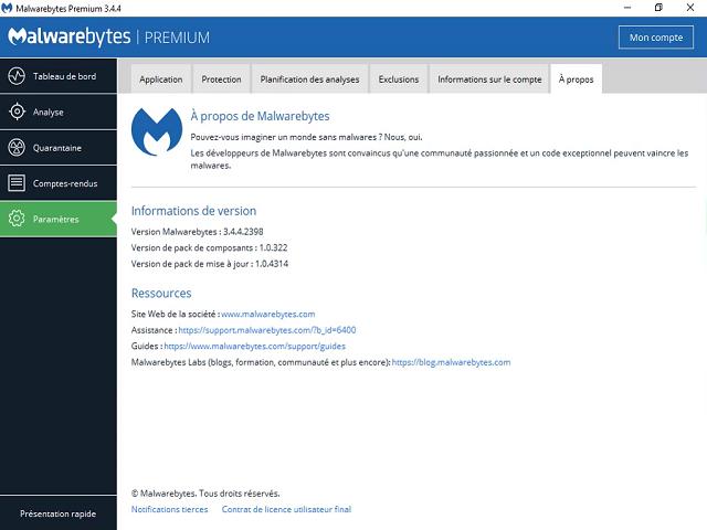 أقوى برنامج الحماية  من الفيروسات والبرمجيات الخبيثة Malwarebytes 3.4.4.2398