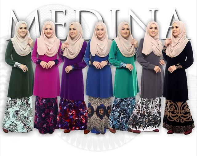 baju raya medina 3 murah cantik