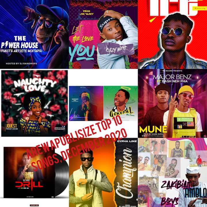 [Music Chart] December Arewapublisize top 10 songs, hosted by Hype man Vizzy