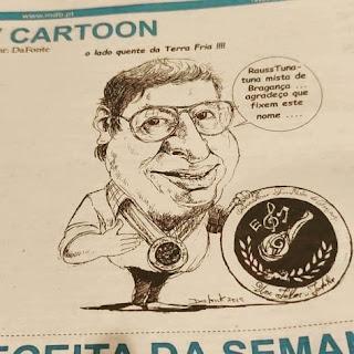 """Caricatura Do Tuno Honorário Manuel """"Comandante"""" Serrão no MDB"""