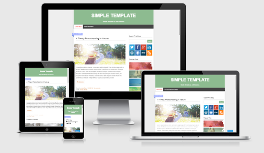 Simple Template Blogger Gratis - ThemeKaze