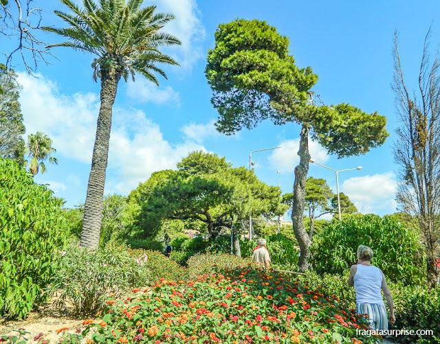 Parque público em Rabat, Malta