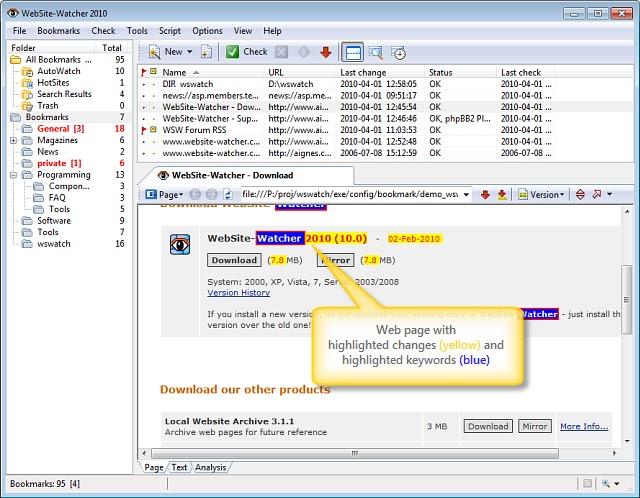 تحميل برنامج WebSite-Watcher 2020 v20.2 Business Edition النسخة الكاملة