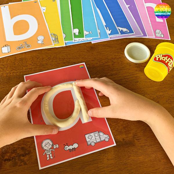 Alphabet Playdough Mats | you clever monkey