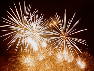 Firework displays are a traditional part of  New Year's Eve celebrations in Italy