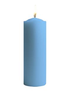 Vela De Sete Dias Cor Azul