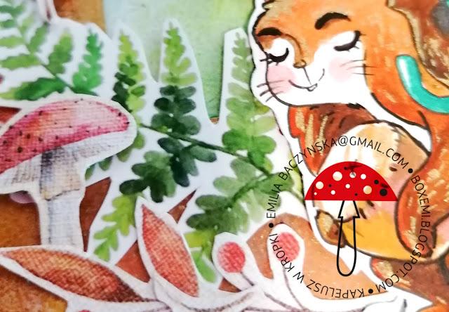 Fox and squirrel – card, czyli jesieni się świat