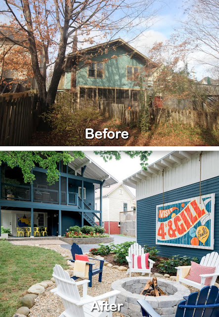 Before After Backyard Renovation Ideas Pictures 3