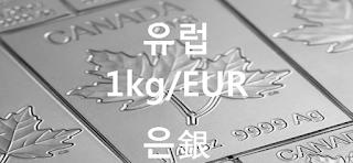 오늘 유럽 은 1 키로(kg) 시세 : 99.99 은(銀) 1 키로 (1kg) 시세 실시간 그래프 (1kg/EUR 유로)