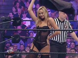 WWE / WWF No Mercy 2001 - Stacy Kiebler faced Torrie Wilson in a lingerie match