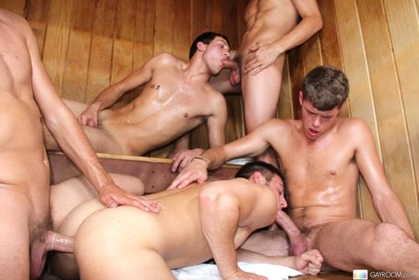 Cream pie orgy 8