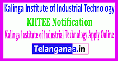 KIITEE Notification Kalinga Institute of Industrial Technology Apply Online