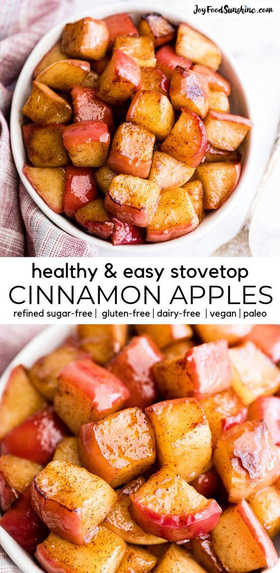 Best Sautéed Cinnamon Apples (Healthy Recipe)