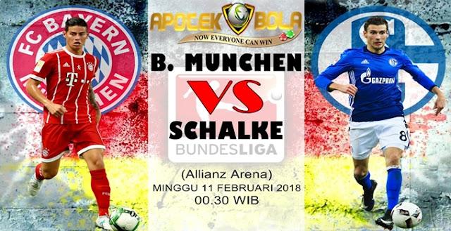 Prediksi Bayern Munich vs Schalke 11 Februari 2018