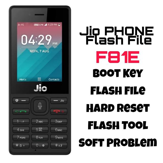 JIO F81E FLASH FILE & TOOL