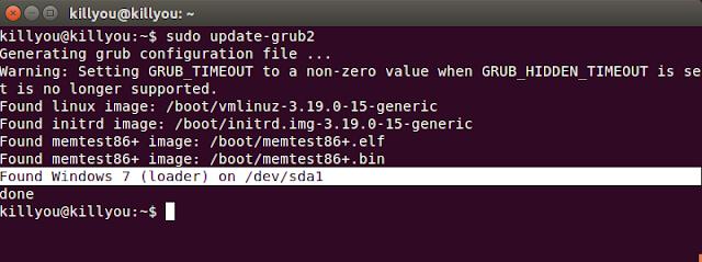 Mengatasi GRUB Tidak Tampil Setelah Install Ubuntu 15.04