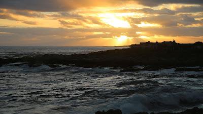 HD wallpaper island, sea, sunset, waves, dusk