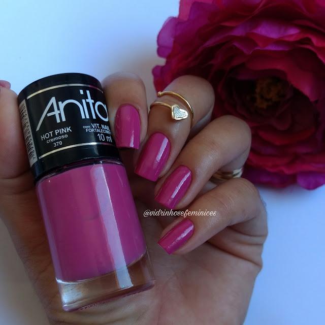 lançamento da anita esmaltes hot pink