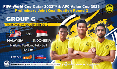 Live Streaming Malaysia vs Indonesia 19.11.2019
