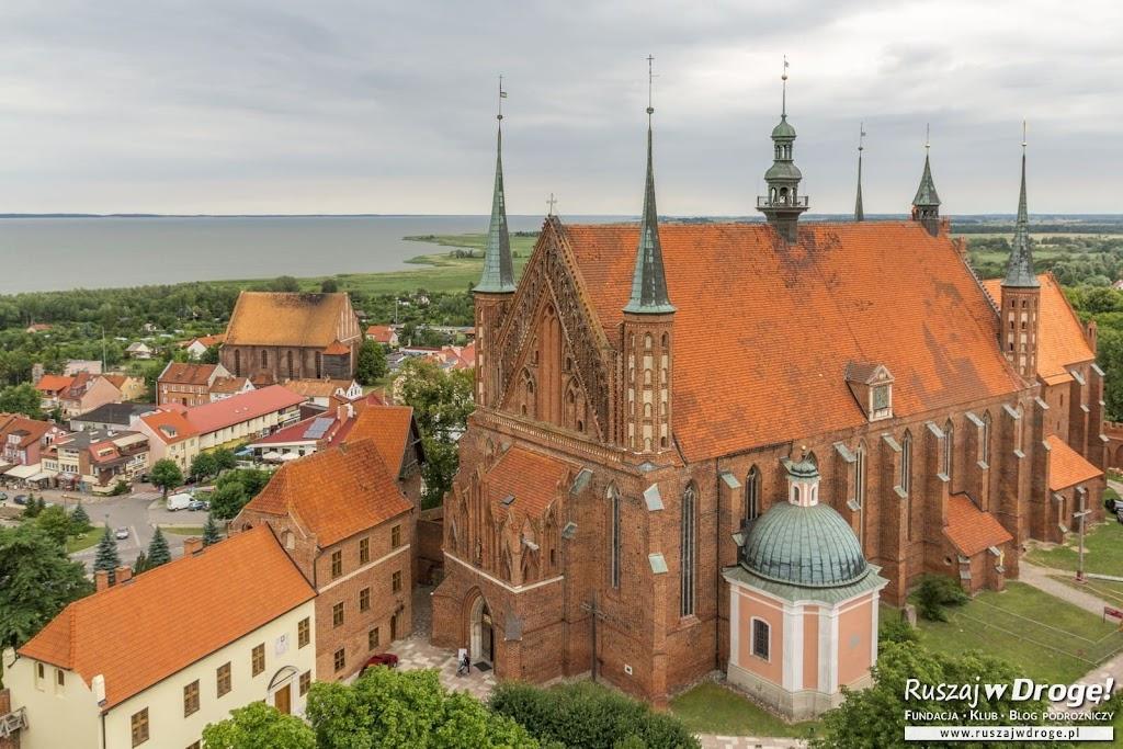 Widok na Katedrę z Wieży Radziejowskiego we Fromborku