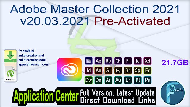 Adobe Master Collection 2021 v20.03.2021 Pre-Activated