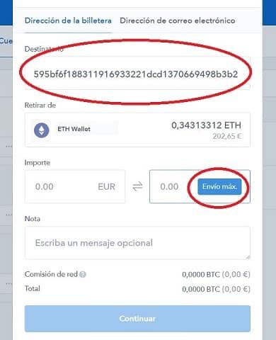 enviar ethereum o bitcoin para comprar DENT intermcabiar