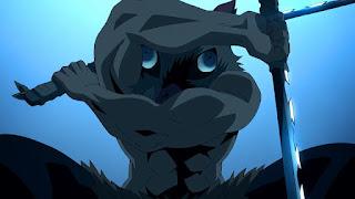 鬼滅の刃アニメ 劇場版 無限列車編   嘴平伊之助 獣の呼吸 かっこいい Hashibira Inosuke CV.松岡禎丞   Demon Slayer Mugen Train