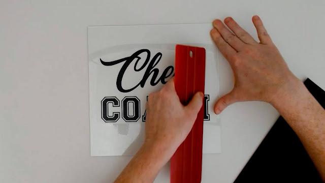 adhesive vinyl on glass, layering vinyl, oracal 651, transfer paper, wet method
