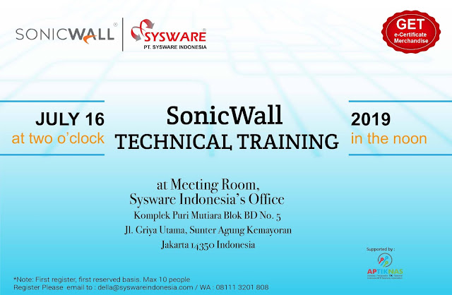 Ikuti SonicWall Technical Training dan Forcepoint Sales Training