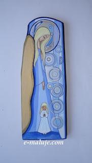 Anioł Stróż Dziewczynki … Ikona na Opiekę :) Pamiątka Chrztu Świętego
