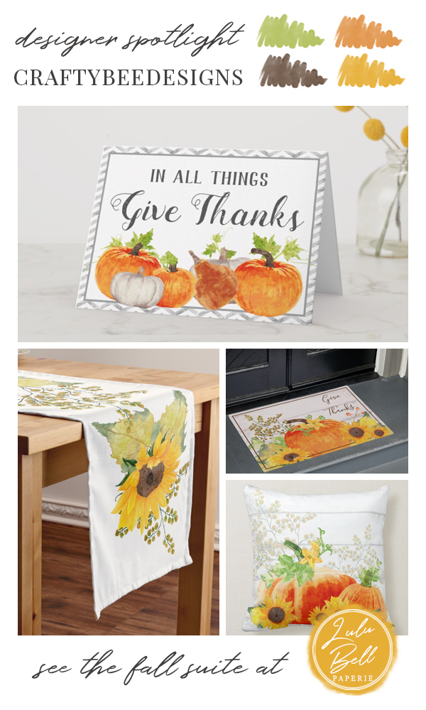 Autumn Farmhouse Home Decor Collection - Give Thanks Cards, Sunflower Table Runner, Welcome Door Mat, and Throw Pillow
