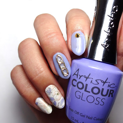Periwinkle Floral Nails