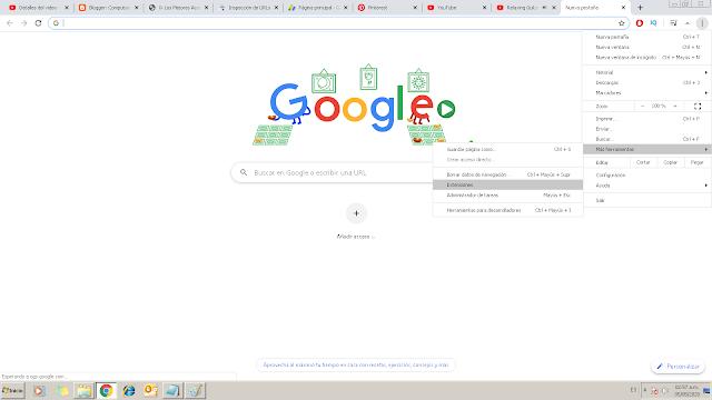 para entrar en la herramientas de google solo debes dar clic en los tres puntitos que están en la parte superior derecha y luego en herramientas