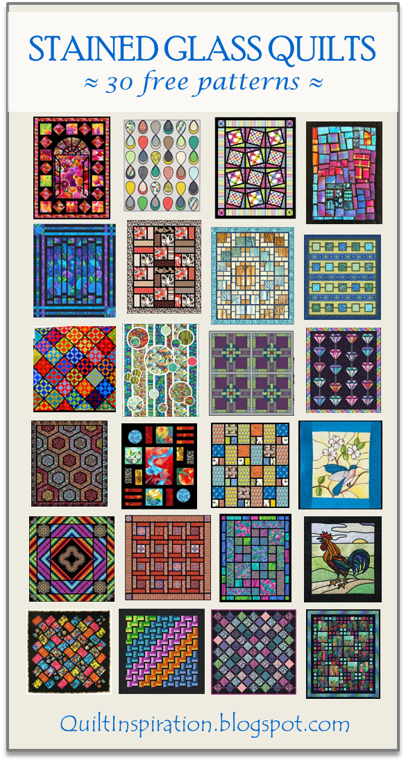 Quilt Inspiration Free Pattern Day Stained Glass Quilts