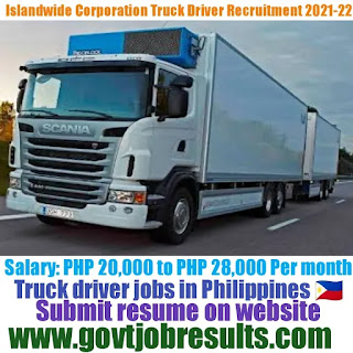 Islandwide Corporation Delivery Truck Driver Recruitment 2021-22