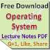 Lecture Notes on Operating System PDF Download