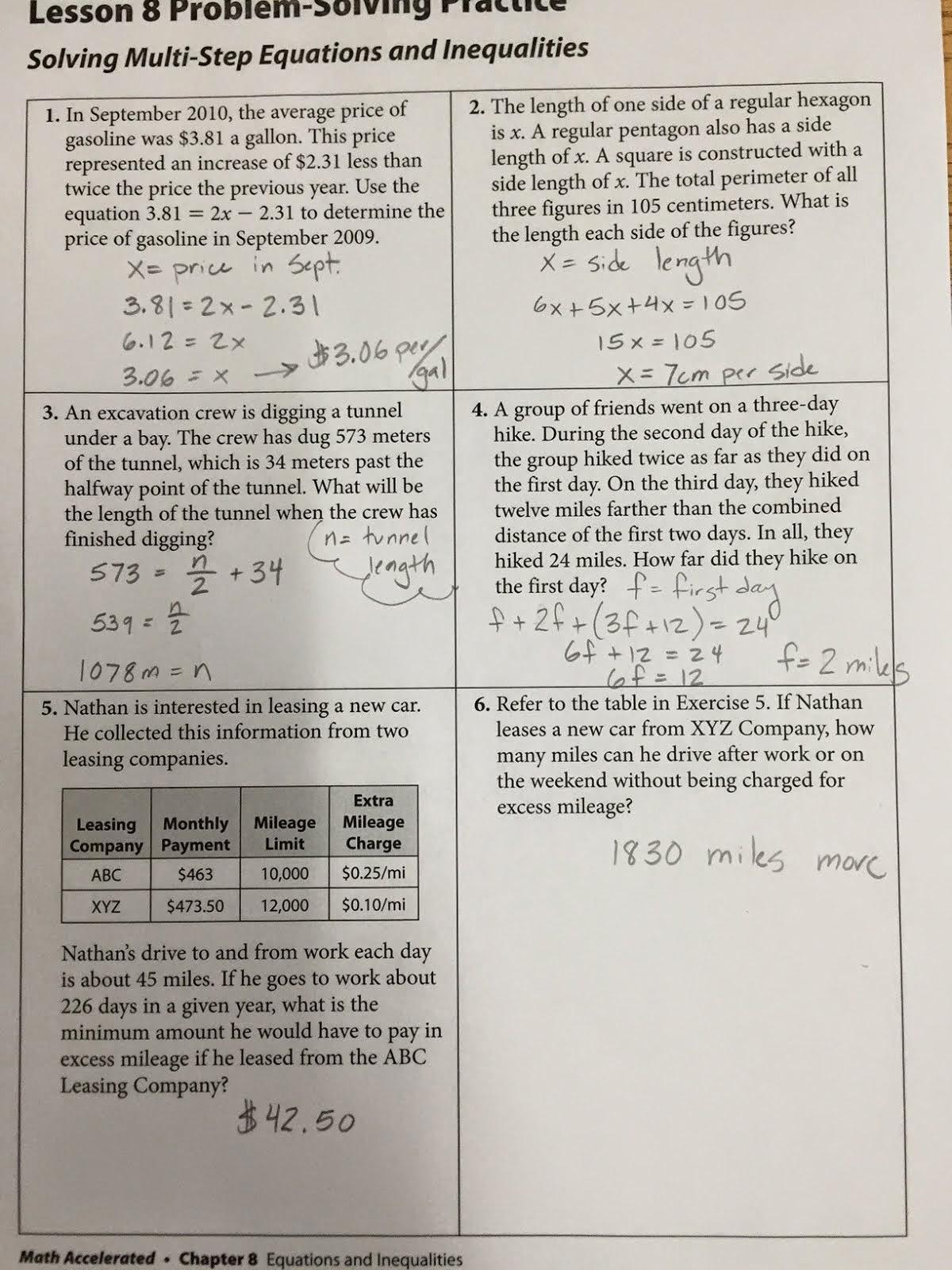 Mrs  James Math 7: AM7 homework answers