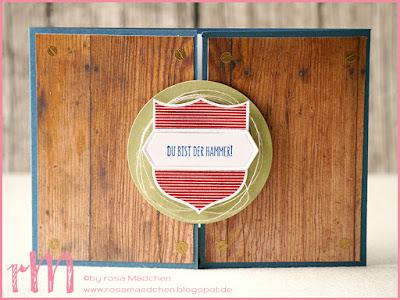 Stampin' Up! rosa Mädchen Kulmbach: Geburtstagskarte zum 80. mit Hammer!