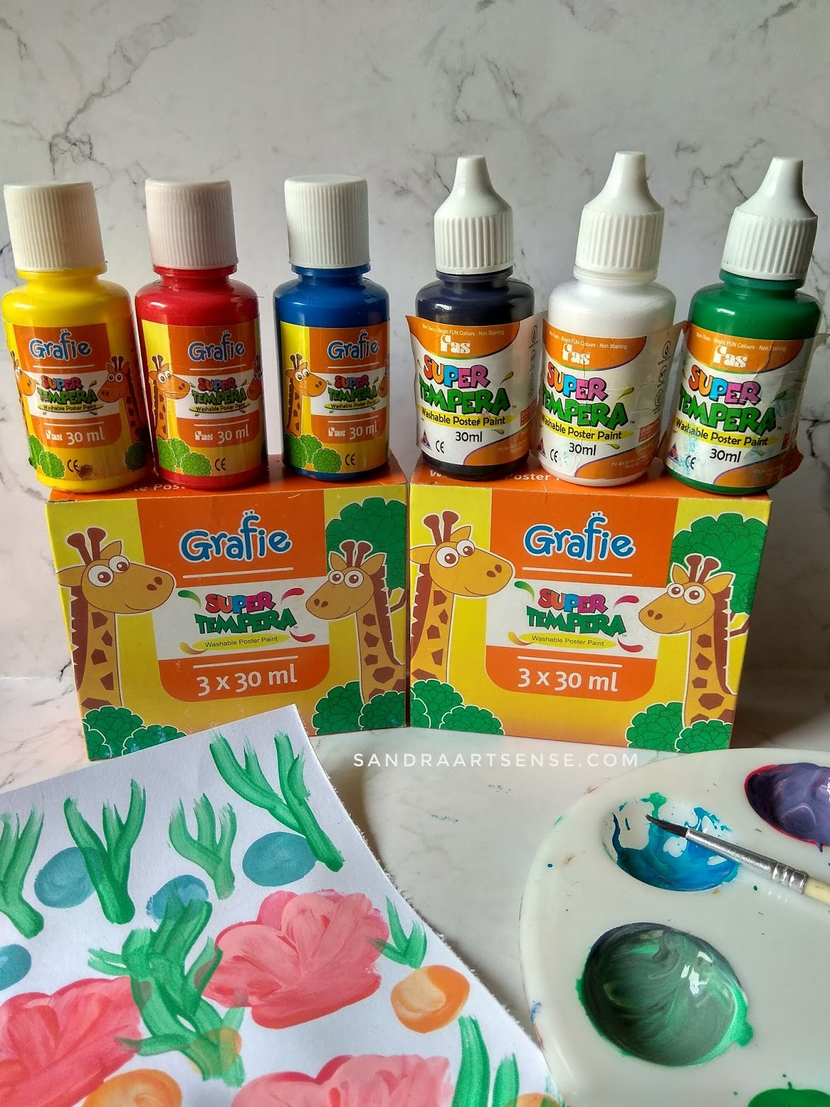 Sandraartsense Com Review Cat Poster Super Tempera Untuk Finger Painting Anak Anak